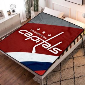 Washington Capitals Hockey Team Fleece Blanket Throw Quilt