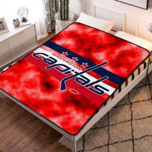 Washington Capitals Ice Hockey Team Quilt Blanket Fleece Bed Set