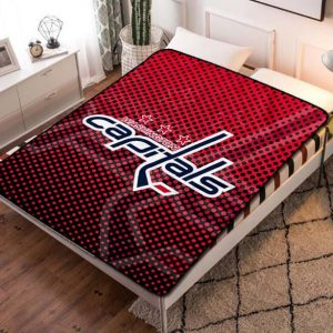 Washington Capitals NHL Fleece Blanket Quilt