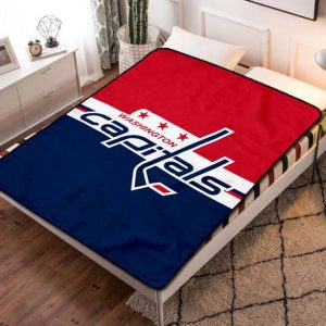 Washington Capitals Hockey Fleece Blanket Quilt
