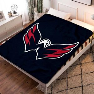 Washington Capitals NHL Quilt Blanket Throw Fleece