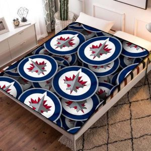 Winnipeg Jets NHL Ice Hockey Team Quilt Blanket Fleece Bed Set