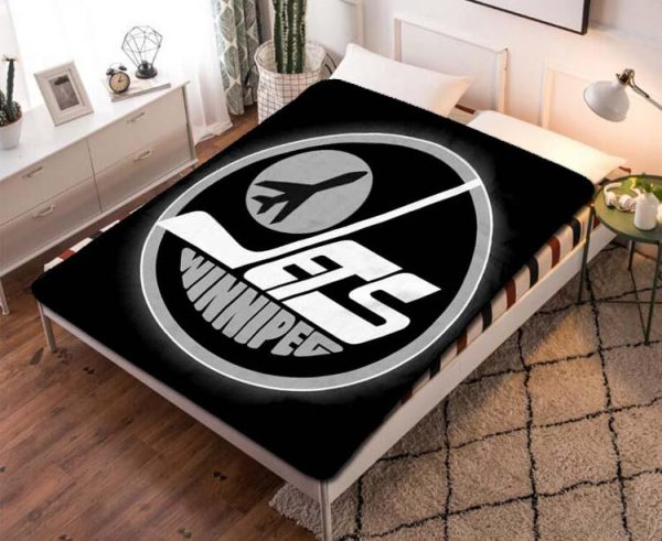 Winnipeg Jets Fleece Blanket Throw Quilt