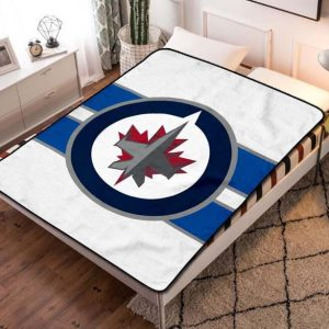 Winnipeg Jets Hockey Fleece Blanket Throw Quilt