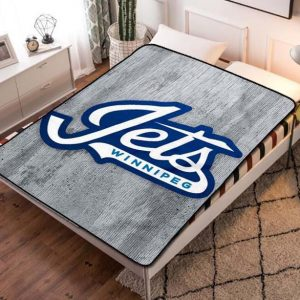 Winnipeg Jets NHL Team Fleece Blanket Throw Bed Set