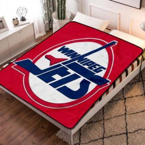 Winnipeg Jets NHL Hockey Team Fleece Blanket Throw Bed Set