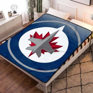 Winnipeg Jets NHL Quilt Blanket Fleece Bed Set