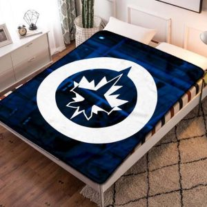 Winnipeg Jets Hockey Fleece Blanket Quilt