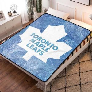Toronto Maple Leafs Hockey Fleece Blanket Throw Quilt