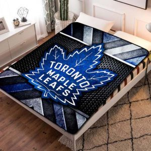 Toronto Maple Leafs Hockey Team Fleece Blanket Throw Quilt