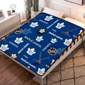 Toronto Maple Leafs NHL Team Fleece Blanket Throw Quilt