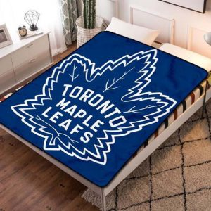 Toronto Maple Leafs NHL Hockey Team Fleece Blanket Throw Quilt