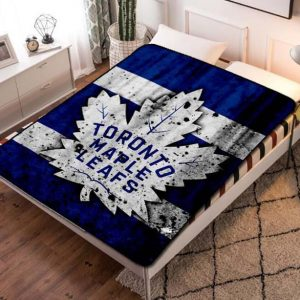 Toronto Maple Leafs Fleece Blanket Throw Bed Set