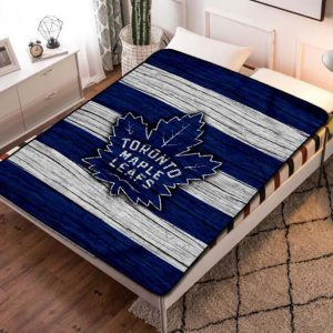 Toronto Maple Leafs NHL Team Fleece Blanket Throw Bed Set