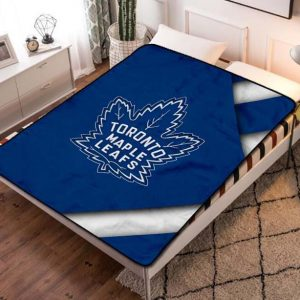 Toronto Maple Leafs Hockey Team Fleece Blanket Throw Bed Set