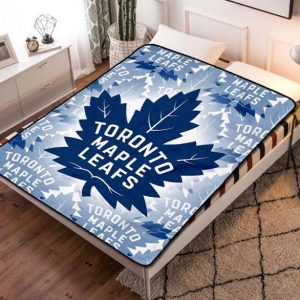 Toronto Maple Leafs Hockey Fleece Blanket Throw Bed Set