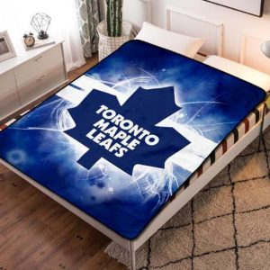 Toronto Maple Leafs NHL Hockey Team Fleece Blanket Throw Bed Set