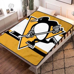 Pittsburgh Penguins Team Fleece Blanket Throw Quilt
