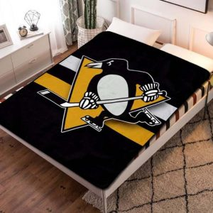Pittsburgh Penguins Fleece Blanket Throw Bed Set