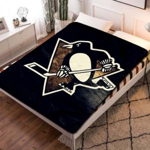 Pittsburgh Penguins NHL Team Fleece Blanket Throw Bed Set