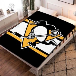 Pittsburgh Penguins Hockey Team Fleece Blanket Throw Bed Set