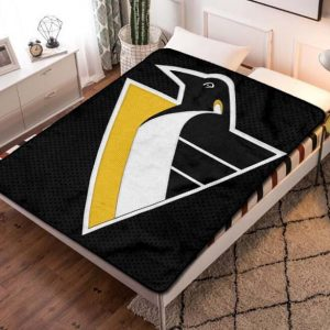 Pittsburgh Penguins NHL Fleece Blanket Throw Bed Set