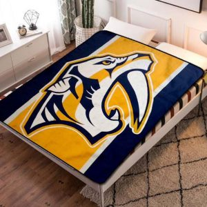 Nashville Predators Fleece Blanket Throw Quilt