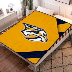 Nashville Predators Hockey Fleece Blanket Throw Quilt