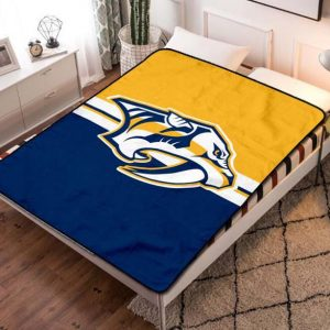 Nashville Predators NHL Hockey Team Fleece Blanket Throw Quilt