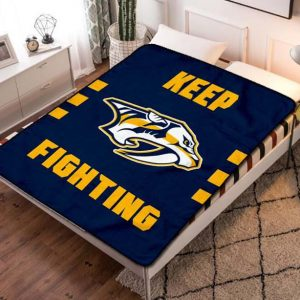 Nashville Predators Hockey Fleece Blanket Quilt