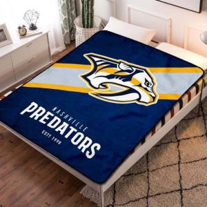 Nashville Predators Team Hockey Fleece Blanket Quilt