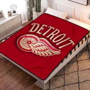 Detroit Red Wings Fleece Blanket Throw Bed Set