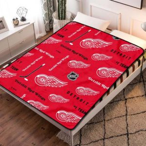 Detroit Red Wings NHL Hockey Team Fleece Blanket Throw Quilt