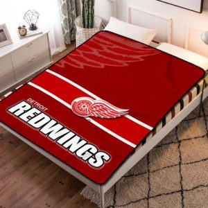 Detroit Red Wings NHL Team Fleece Blanket Throw Bed Set