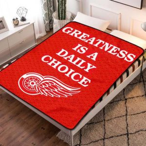 Detroit Red Wings Hockey Team Fleece Blanket Throw Bed Set