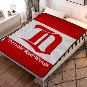 Detroit Red Wings NHL Hockey Team Fleece Blanket Throw Bed Set