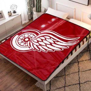 Detroit Red Wings Fleece Blanket Throw Quilt
