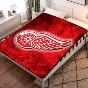 Chillder Detroit Red Wings Blanket. Detroit Red Wings Fleece Blanket Throw Bed Set Quilt Bedroom Decoration.