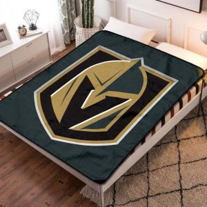 Vegas Golden Knights Team Fleece Blanket Throw Quilt