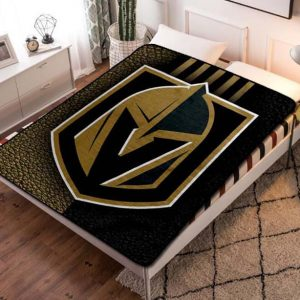 Vegas Golden Knights NHL Hockey Team Fleece Blanket Throw Quilt