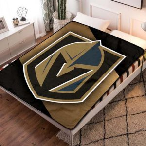 Vegas Golden Knights Fleece Blanket Throw Bed Set