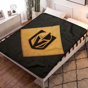 Vegas Golden Knights Hockey Team Fleece Blanket Throw Bed Set
