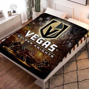 Vegas Golden Knights NHL Hockey Team Fleece Blanket Throw Bed Set