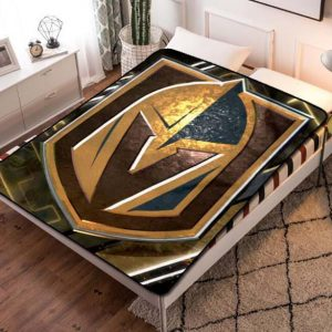Vegas Golden Knights Fleece Blanket Quilt