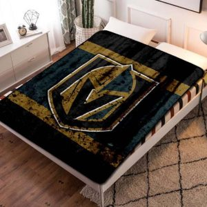 Vegas Golden Knights NHL Hockey Team Fleece Blanket Quilt