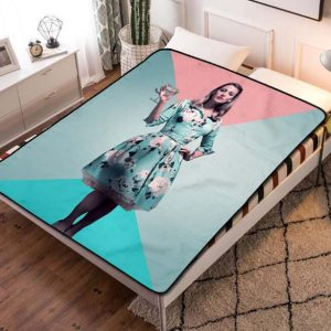 Blake Lively A Simple Favor Quilt Blanket Fleece Throw