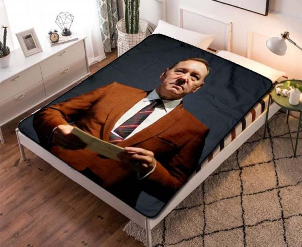 Kevin Spacey Stylish Throw Blanket Sherpa Fleece Quilt Bedroom Decoration