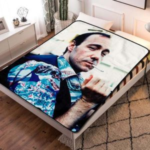 Kevin Spacey Hollywood Fleece Blanket Throw Quilt