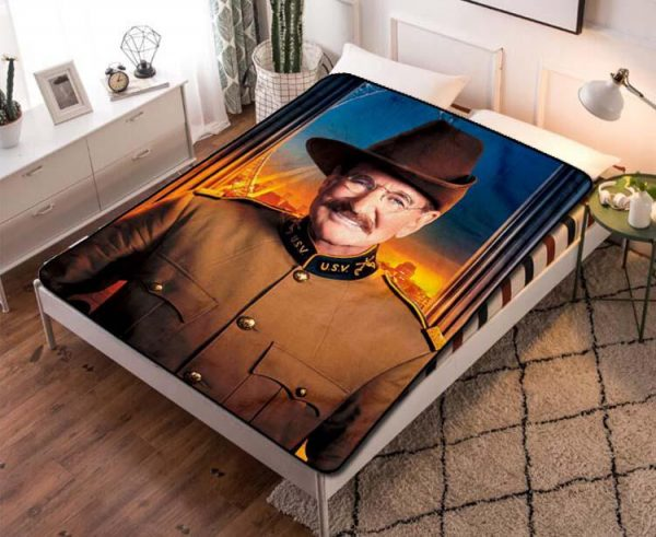 Robin Williams Night at the Museum Fleece Blanket Throw Quilt