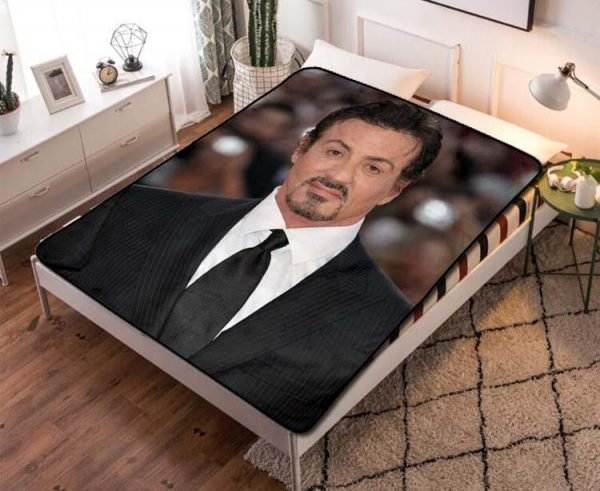 Sylvester Stallone Expendables Quilt Blanket Throw Fleece